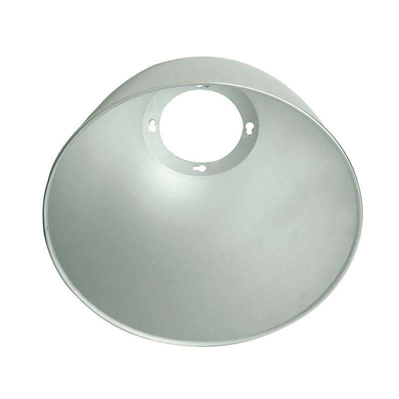 Reflector aluminio 45º para lámpara industrial, Ø180mm